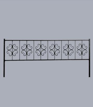 Металлическая оградка на могилу Ажур