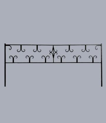 Металлическая оградка на могилу Лилия