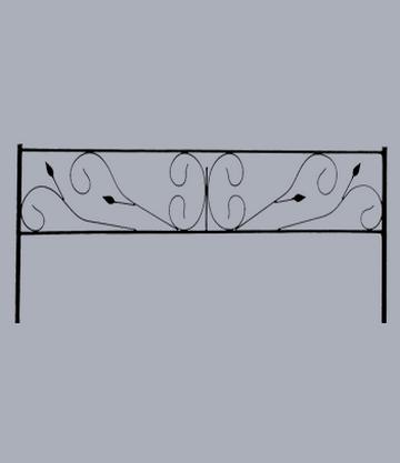 Металлическая оградка на могилу Лира