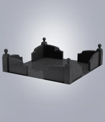 Оградка на могилу GFK-1 (К 6, габбро черный)