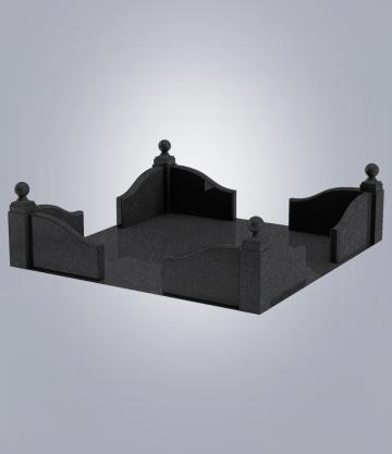 Оградка на могилу GFK-2 (К 6, габбро черный)