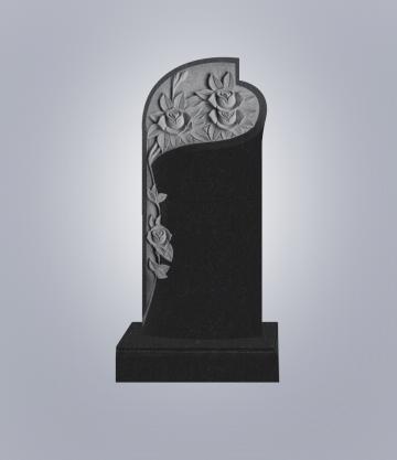 Памятник элитный из гранита 1600*700*120 (№ 12 К 6, Габбро Черный)