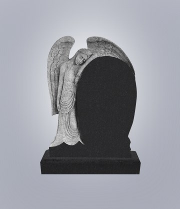 Памятник элитный из гранита 1400*1000*120 (№ 14 К 6, Габбро Черный)