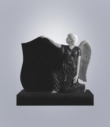 Памятник элитный из гранита 1200*1000*140 (№ 15 К 6, Габбро Черный)