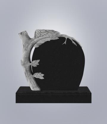 Памятник элитный из гранита 1100*1000*100 (№ 16 К 6, Габбро Черный)