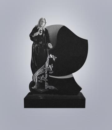 Памятник элитный из гранита 1300*1000*120 (№ 18 К 6, Габбро Черный)