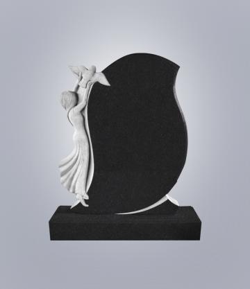 Памятник элитный из гранита 1300*1100*100 (№ 2 К 6, Габбро Черный)