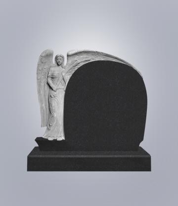 Памятник элитный из гранита 1300*1180*120 (№ 3 К 6, Габбро Черный)