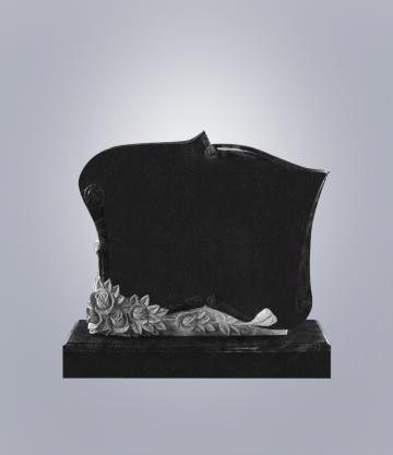 Памятник элитный из гранита 1200*1000*100 (№ 7 К 6, Габбро Черный)