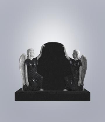Памятник элитный из гранита 1400*1000*140 (№ 8 К 6, Габбро Черный)