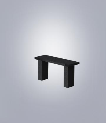 Скамья прямоугольная TSK90 (К 6, габбро черный)