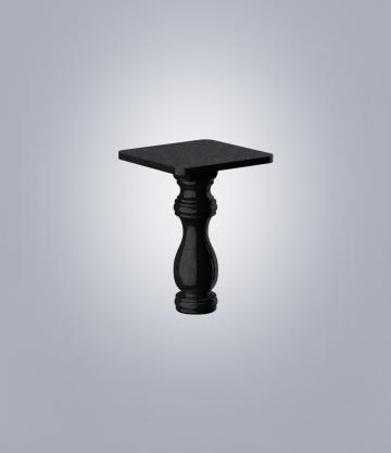 Стол фигурный TSK50 (К 6, габбро черный)