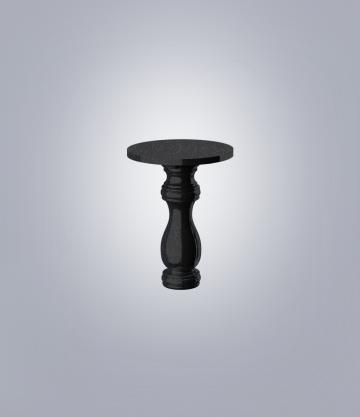 Стол фигурный TSR50 (К 6, габбро черный)