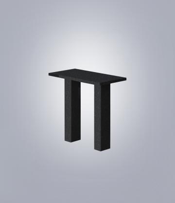 Стол прямоугольный TSK90 (К 6, габбро черный)